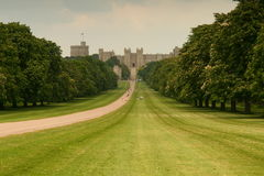 Windsor Castle. Is an official residence of The Queen and the largest occupied castle in the world royalty free stock photos