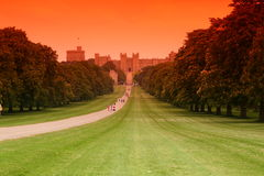 Windsor Castle. Is an official residence of The Queen and the largest occupied castle in the world stock photo
