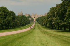 Windsor Castle. Is an official residence of The Queen and the largest occupied castle in the world Stock Images
