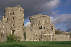 Windsor Castle. Storm clouds rising over Windsor Castle Stock Photography