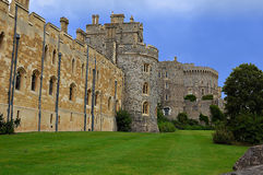 Windsor Castle. Wall and towers of Windsor Castle in England Royalty Free Stock Image