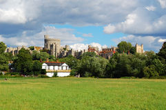 Windsor castle. Seen from the distance Royalty Free Stock Images