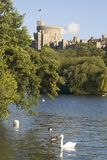 Windsor Castle. Overlooking the River Thames, England Royalty Free Stock Image