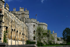 Windsor Castle. One of the Queen of Englands official residencies royalty free stock image