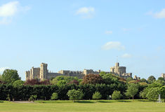 Windsor Castle. A view of Windsor Castle from the north side overlooking a cricket pitch Stock Photo