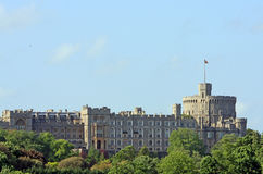 Windsor Castle. View of Windsor Castle, Berkshire, England from the north side Stock Images