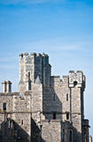 Windsor castle with blue sky background. Historic English castle with blue sky. This is Windsor Castle, the oldest and largest occupied castle in the world and Royalty Free Stock Photography