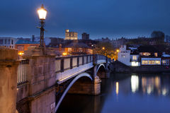 Windsor Castle. The bridge from Eton to Windsor facing Windsor Castle Royalty Free Stock Photography
