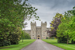 Windsor Castle, Britse mening van de lange gang stock foto's