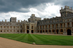 Windsor castle the courtyard stock photography