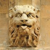 Windsor Castle detail. Stone gargoyles decorating Royalty Free Stock Photo