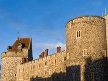 Windsor Castle, England. Clock tower of Windsor Castle in Berkshire, England, UK Stock Photo