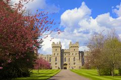 Windsor castle, England. Front spring view of Windsor castle, England Stock Photography