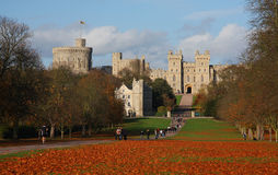 Windsor Castle in Enlgand Stock Photo