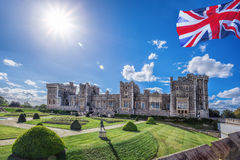 Windsor castle with garden near London, United Kingdom Stock Photography
