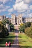 Windsor castle with garden near London, United Kingdom Royalty Free Stock Image