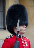 Windsor Castle Gaurd. A Gaurd stands guard at Windsor Castle in England Royalty Free Stock Photos