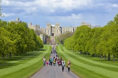 Windsor castle and Great Park , England Royalty Free Stock Photo