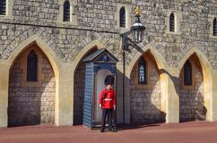 Windsor castle guardsman. Royalty Free Stock Image