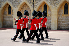 Windsor Castle Irish Guards Stock Image