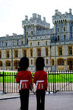 Windsor Castle Irish Guards lizenzfreies stockbild