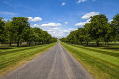Windsor Castle from The Long Walk Royalty Free Stock Photos