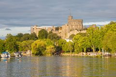 Windsor Castle overlooking the River Thames, England stock photography