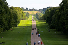 Windsor castle. A pathway to the Windsor castle Royalty Free Stock Photography