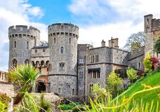 Windsor castle in spring, London suburbs, UK stock photography