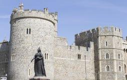 Windsor Castle Starue of Queen Victoria Stock Photos