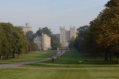 Windsor castle. This is a stunning shot of Windsor Castle taken from the London walk Stock Photo