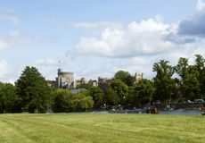 Windsor Castle from the Thames River Stock Images