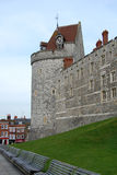 Windsor Castle tower with clock, Windsor, UK Royalty Free Stock Photography