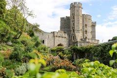 Windsor Castle & Tuin Royalty-vrije Stock Foto's