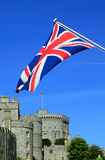 Windsor Castle with a Union Jack flag royalty free stock photos