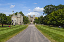 Windsor Castle. View of Windsor Castle from The Long Walk in Berkshire, England Royalty Free Stock Photography