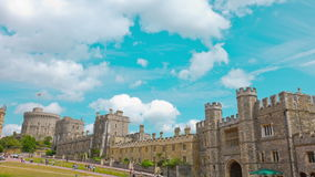 Windsor Castle-woonplaats van de Koningin stock video