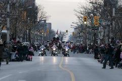 Windsor Christmas Parade. Start of windsor ontario christnas parade stock photo