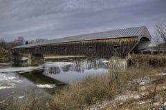 Windsor Cornish Covered Bridge i New Hampshire Royaltyfria Foton