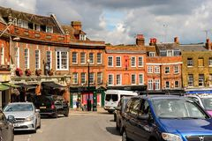 Windsor, England, United Kingdom. WINDSOR, ENGLAND - JULY 21, 2016: Architecture of the center of Windsor,a town in the Royal Borough of Windsor and Maidenhead Stock Images
