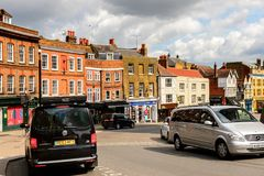 Windsor, England, United Kingdom. WINDSOR, ENGLAND - JULY 21, 2016: Architecture of the center of Windsor,a town in the Royal Borough of Windsor and Maidenhead Stock Image
