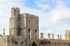 Windsor, England, United Kingdom. WINDSOR, ENGLAND - JULY 21, 2016: Part of the Windsor Castle, Berkshire, England. Official Residence of Her Majesty The Queen royalty free stock photos