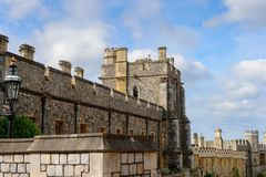 Windsor, England, United Kingdom. WINDSOR, ENGLAND - JULY 21, 2016: Part of the Windsor Castle, Berkshire, England. Official Residence of Her Majesty The Queen royalty free stock photo