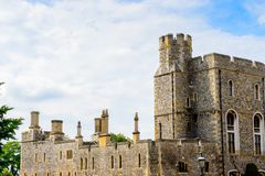 Windsor, England, United Kingdom. WINDSOR, ENGLAND - JULY 21, 2016: Part of the Windsor Castle, Berkshire, England. Official Residence of Her Majesty The Queen stock photography
