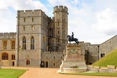 Windsor, England, United Kingdom. WINDSOR, ENGLAND - JULY 21, 2016: South Wing of the Upper Ward, Windsor Castle, Berkshire, England. Official Residence of Her stock photo