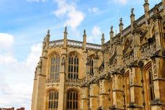 Windsor, England, United Kingdom. WINDSOR, ENGLAND - JULY 21, 2016: St George's Chapel, Lower Ward, Windsor Castle, Berkshire, England. Official Residence of Her stock image