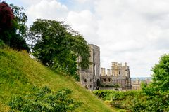 Windsor, England, United Kingdom. WINDSOR, ENGLAND - JULY 21, 2016: Windsor Castle, Berkshire, England. Official Residence of Her Majesty The Queen royalty free stock photos