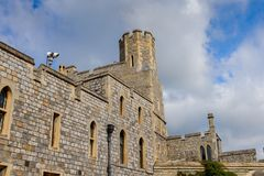 Windsor, England, United Kingdom. WINDSOR, ENGLAND - JULY 21, 2016: Part of the Windsor Castle, Berkshire, England. Official Residence of Her Majesty The Queen stock photo