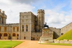 Windsor, England, United Kingdom. WINDSOR, ENGLAND - JULY 21, 2016: South Wing of the Upper Ward, Windsor Castle, Berkshire, England. Official Residence of Her stock photos