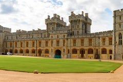 Windsor, England, United Kingdom. WINDSOR, ENGLAND - JULY 21, 2016: South Wing of the Upper Ward, Windsor Castle, Berkshire, England. Official Residence of Her stock image